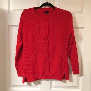 Red Chunky Knit Tommy Hilfiger Sweater
